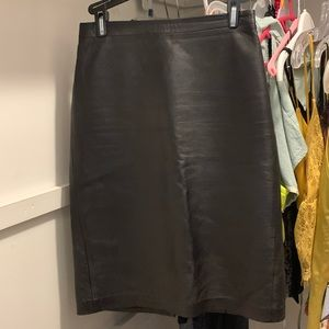 Black faux leather bcbg skirt
